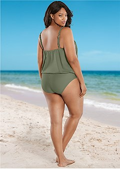 plus size mid rise full cut bottom