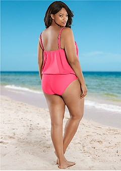 plus size high waist full cut bottom