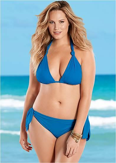 Plus Size Low Rise Sash Bikini Bottom