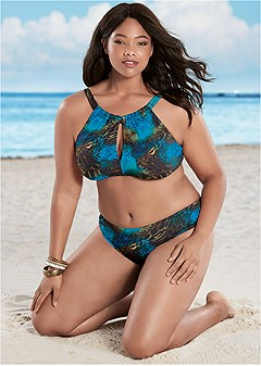 Plus Size High Neck Bikini Tops