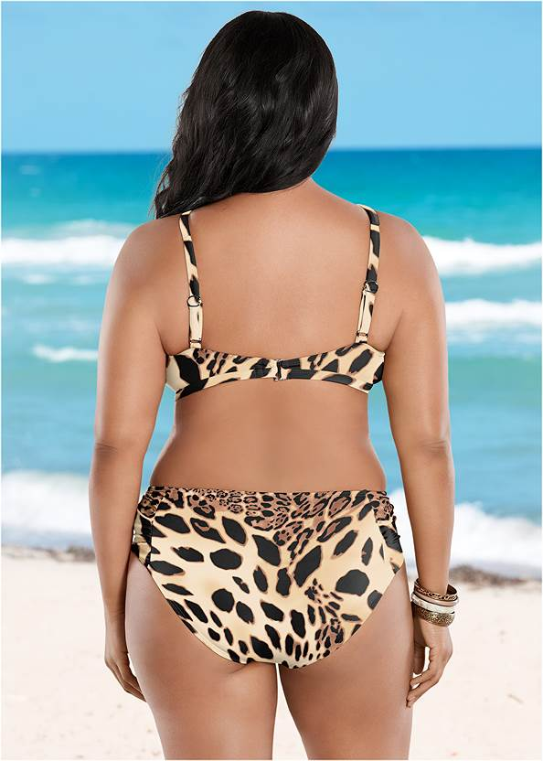 Back View Ruched Low Rise Bottoms