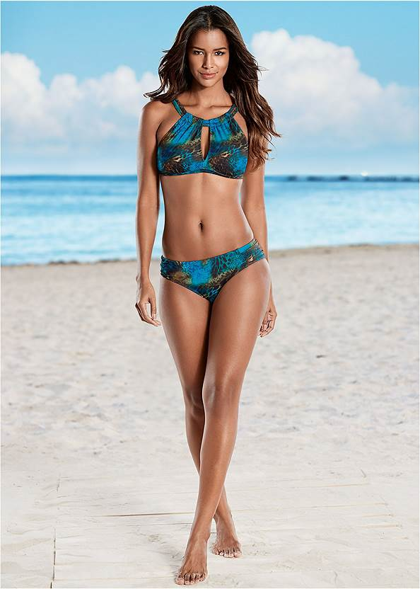 Ruched Low Rise Bottoms,Keyhole High Neck Top,Peephole Sport Top,Crisscross Wrap Top,Flyaway Tankini Top