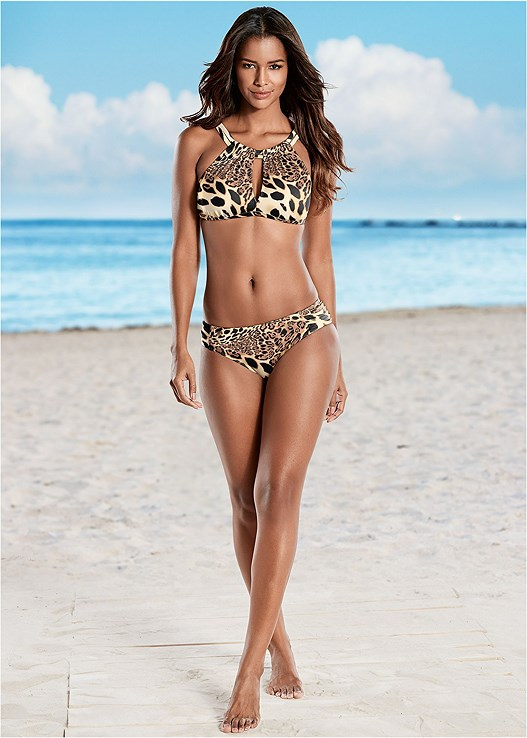 RUCHED LOW RISE BOTTOMS,KEYHOLE HIGH NECK TOP,PEEPHOLE SPORT TOP,CRISS CROSS WRAP TOP,FLYAWAY TANKINI TOP