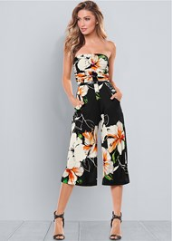 Front view Strapless Culotte Jumpsuit