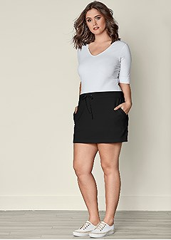 plus size terry skirt