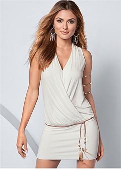 banded bottom dress