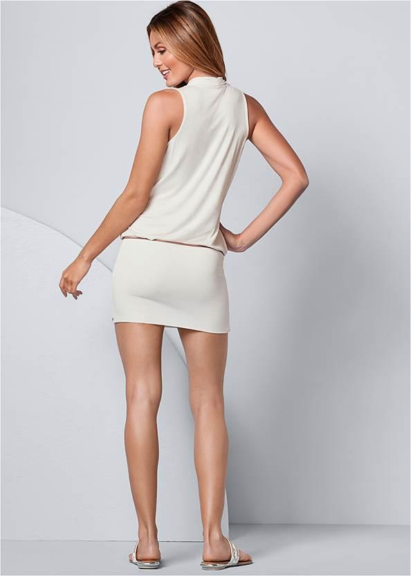 Alternate View Banded Bottom Dress