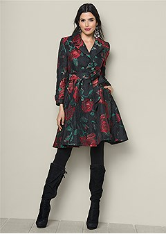 floral trench coat