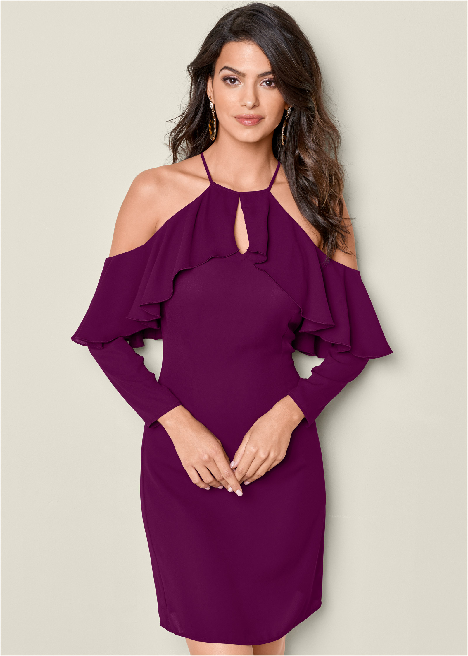 Purple Ruffle Dress