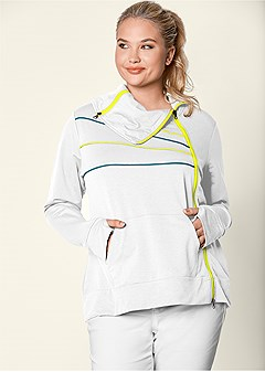 plus size zip detail sweatshirt
