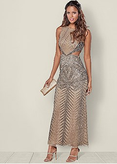 cut out embellished gown