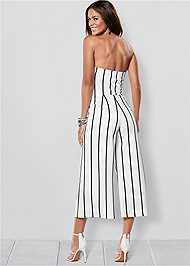 Back view Stripe Culotte Jumpsuit