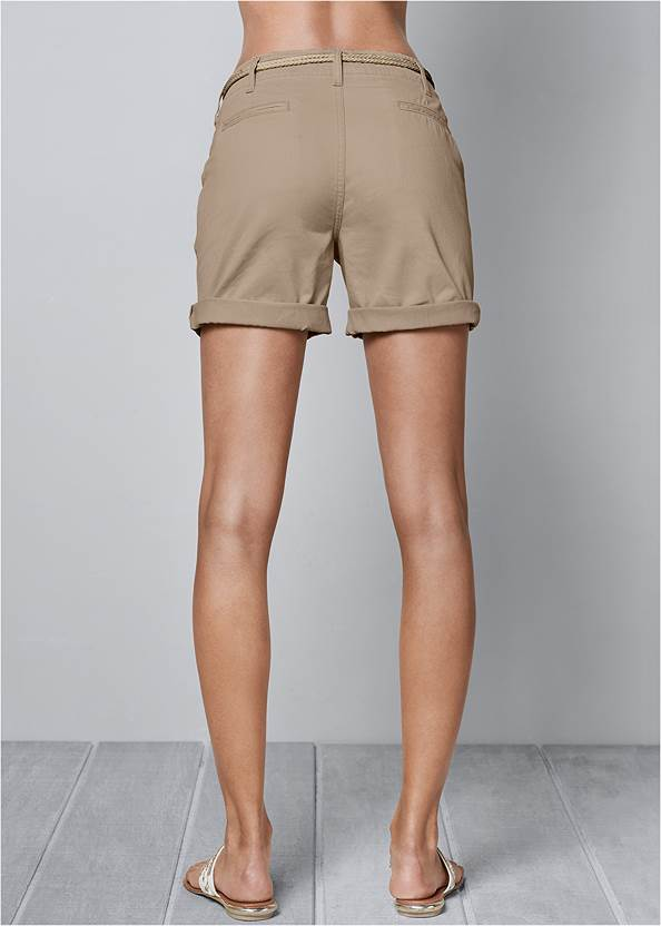 Alternate View Belted Cuffed Shorts