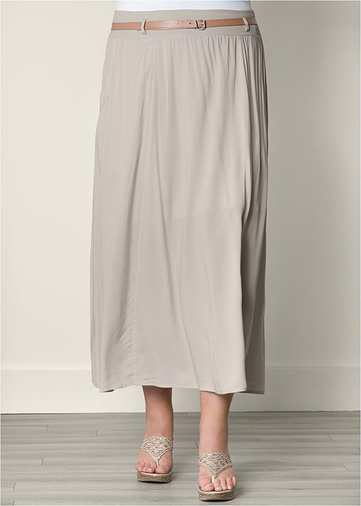 e0ec5353ccf Plus Size POCKET DETAIL MAXI SKIRT