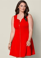 plus size zip front dress