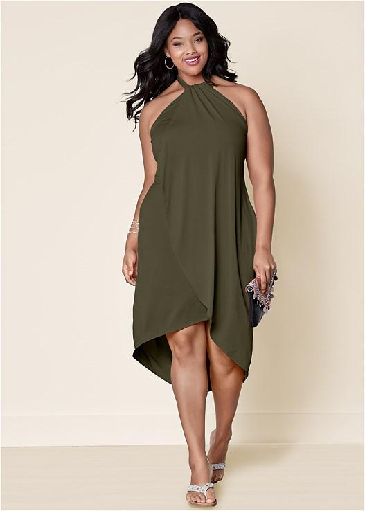 Olive WATERFALL MAXI DRESS from VENUS
