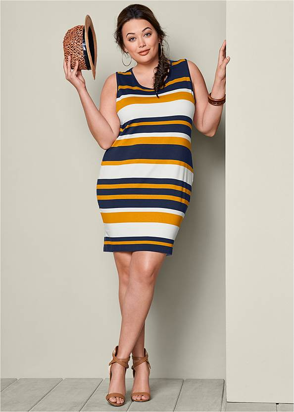 ALTERNATE VIEW Striped Bodycon Dress