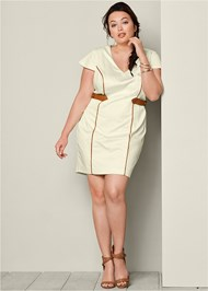 FRONT VIEW Waist Detail Dress