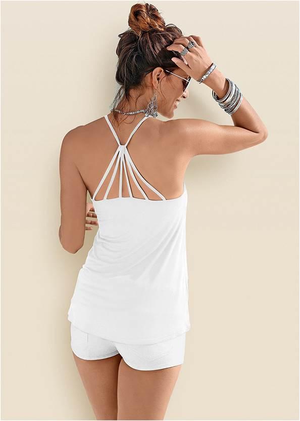 Back Detail Top,Frayed Cut Off Jean Shorts,Tie Dye Strappy Tank,Back Detail Printed Tank,Venus Cupid Bra