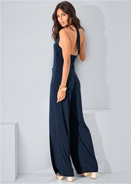 Back view Halter Jumpsuit