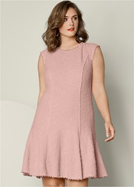 Front view Textured Flare Dress
