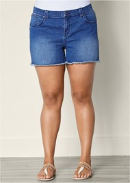 Front view Cut Off Jean Shorts