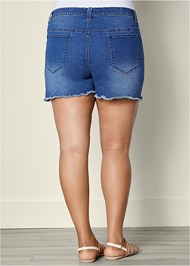 Back view Cut Off Jean Shorts