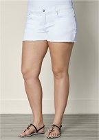 plus size cut off jean shorts