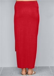 Back view Tie Front Long Skirt