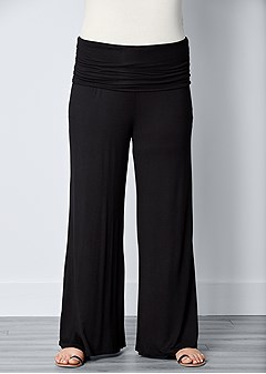 plus size easy foldover pants