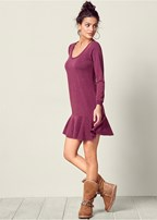 ruffle hem lounge dress