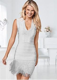 slimming fringe dress