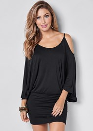 Front View Cold Shoulder Dress