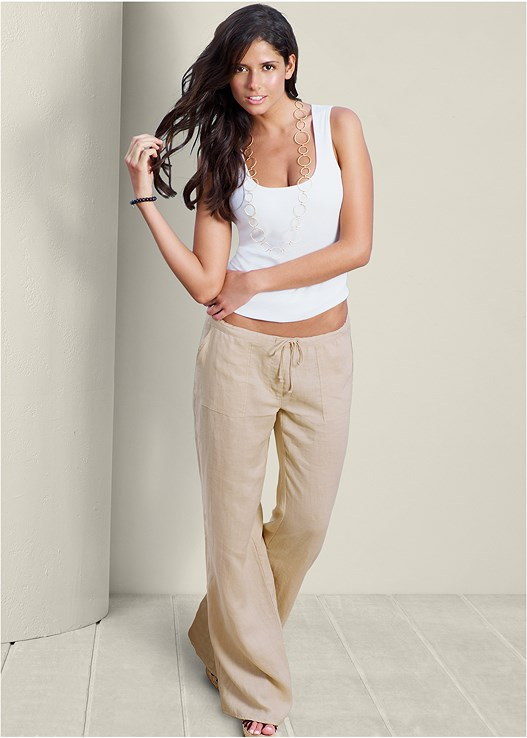 DRAWSTRING PANTS 34 INSEAM,DRAWSTRING PANTS 30 INSEAM,DRAWSTRING PANTS 32 INSEAM,SEAMLESS RIB TANK
