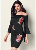 floral applique dress
