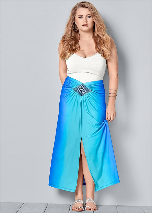 Ombre Embellished Skirt