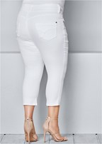 plus size bum lifter capri