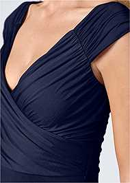 Alternate View Draped Front Dress