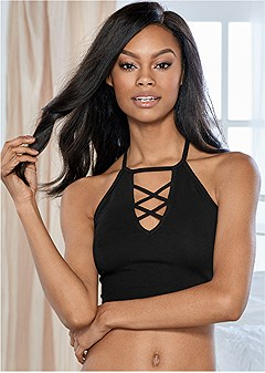 natural beauty strappy bra
