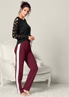 cozy color block sweatpant