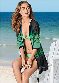tassel tie front cover-up