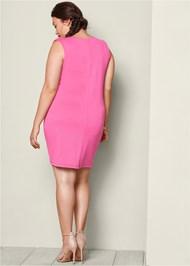 BACK VIEW V-Neck Surplice Dress