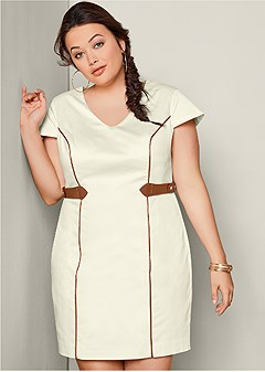 plus size waist detail dress