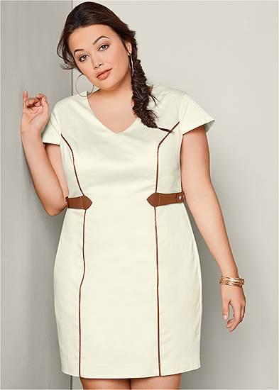 Plus Size Waist Detail Dress