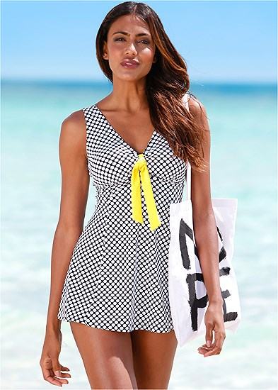 Tie Front Swim Dress