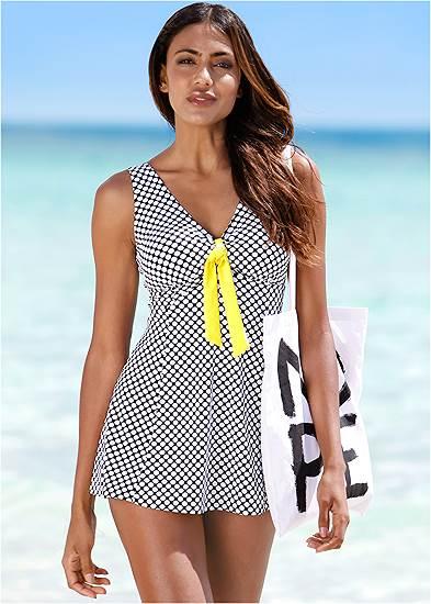 Tie Front Swim Dress