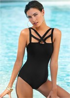 strappy detail one-piece