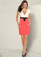 bow waist dress