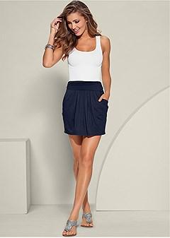 easy pleated mini skirt