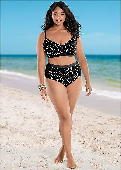 Plus Size Ruched High Waisted Bottoms